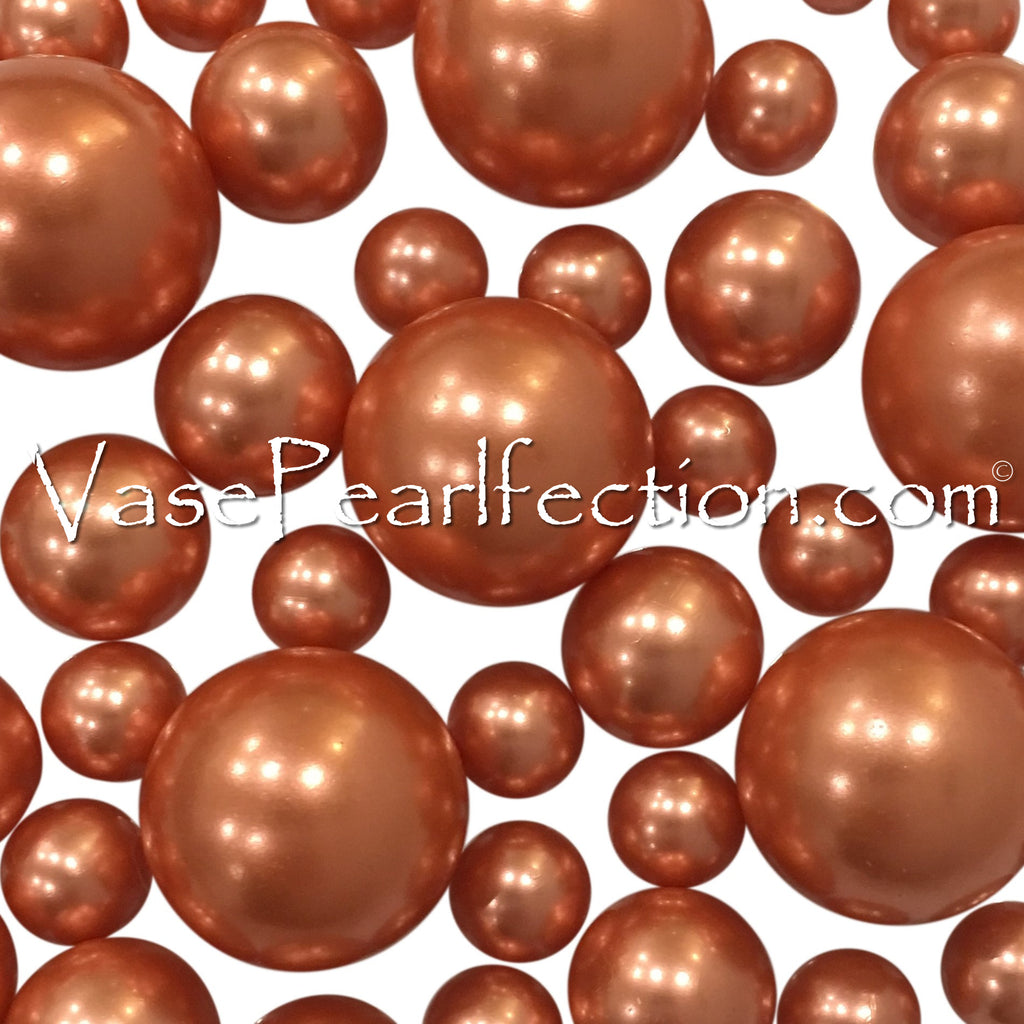 Floating Rose Copper Pearls - No Hole Jumbo/Assorted Sizes Vase Decorations