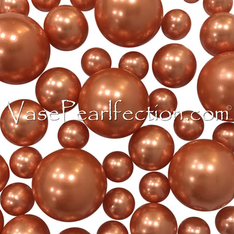 Round Sparkling Orange Gems - 1 Pound Bag - Vase Decorations and Table Scatter