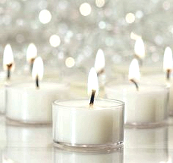 24 Floating Transparent Tea Light Candles - Unscented