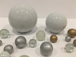 *Clearance* White Extra Jumbo Ceramic Sphere - Assorted Sizes Vase Decorations