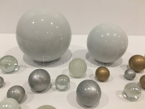 *Clearance* White Extra Jumbo Ceramic Sphere - Assorted Sizes Vase Fillers for Decorating Centerpieces