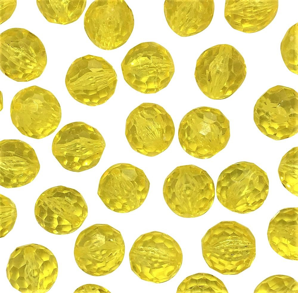*Clearance* Bright Yellow Sparkling Round Gems - Vase Decorations and Table Scatter