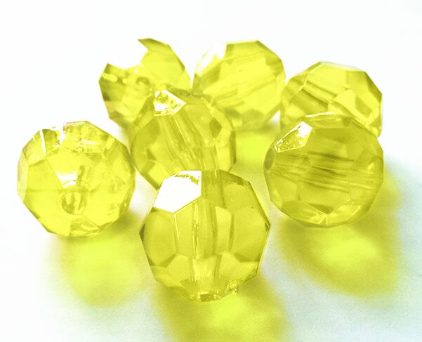 *Clearance* Yellow Sparkling Round Gems - 1 Pound Bag - Vase Decorations and Table Scatter