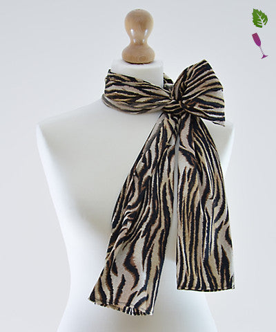 Brown Safari Satin Scarf