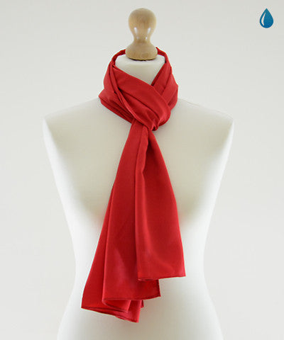Cinnabar Red Satin Scarf