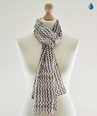 Coffee Tide Cotton Scarf