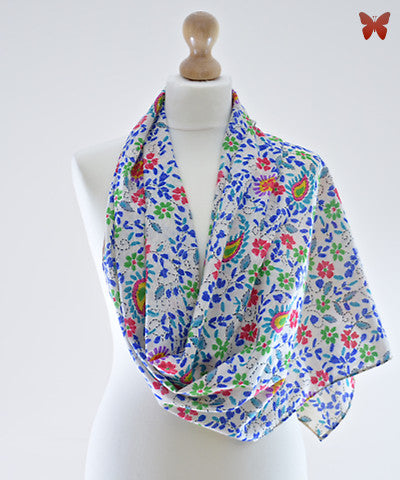 Fulkari Cotton Scarf