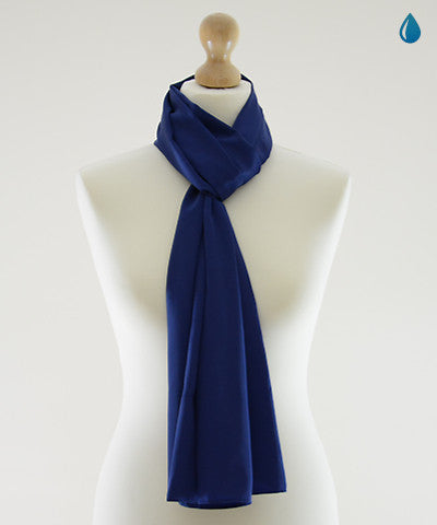 Midnight Blue Satin Scarf