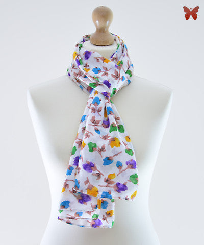 Rosebud Cotton Scarf