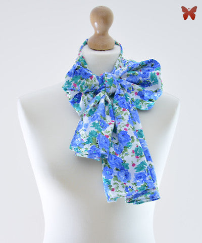 Blue Vintage Cotton Scarf