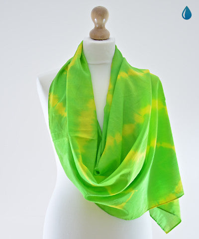 Native Green Cotton Scarf