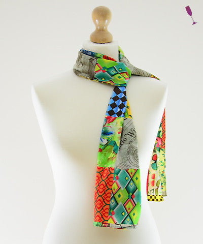 Pop Mosaic Cotton Scarf