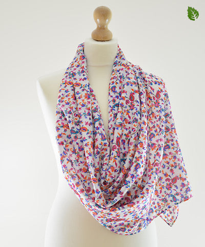 Red Grapevine Cotton Scarf