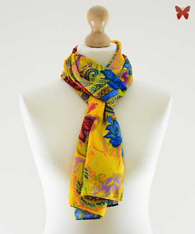 Royal Bloom Cotton Scarf