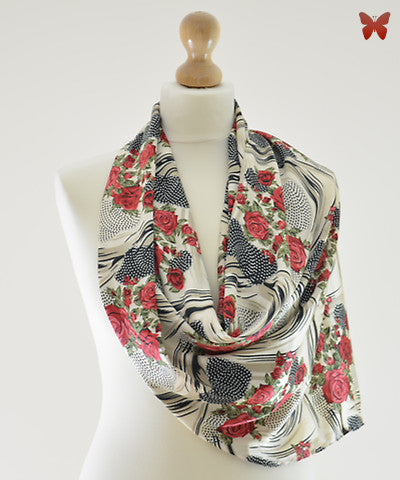 Tea Rose Satin Scarf