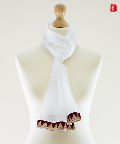 Tinsel Triangle Cotton Scarf