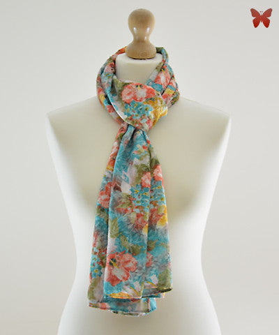 Waterflower Cotton Scarf