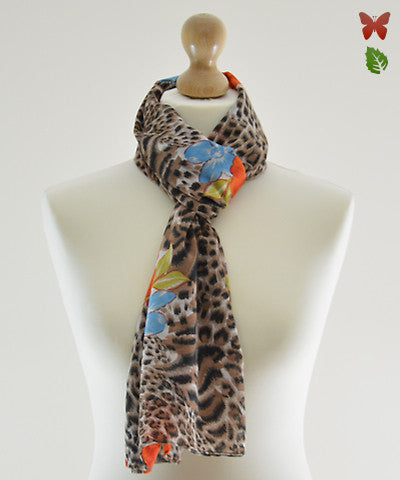 Wild Orange Cotton Scarf