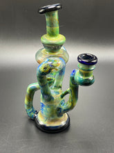 Load image into Gallery viewer, SpunOut Glass / Duel Uptake Recycler (Multi-Colors) Cobalt & RainDrop