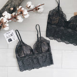Chloe Croptop Wirefree Bra - Black
