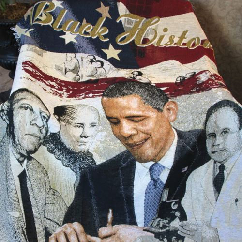 Black History Tapestry Throw
