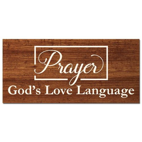 God's Love Language Wall Plaque