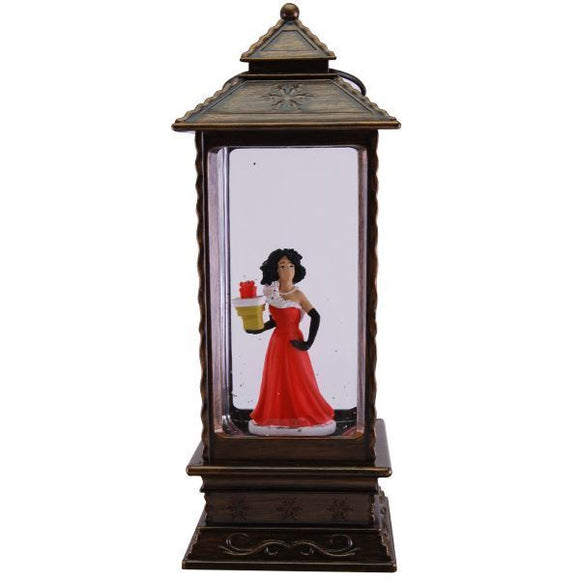 Christmas Lantern - Fabulous Lady in Red