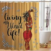 Living My Blessed Life Shower Curtain