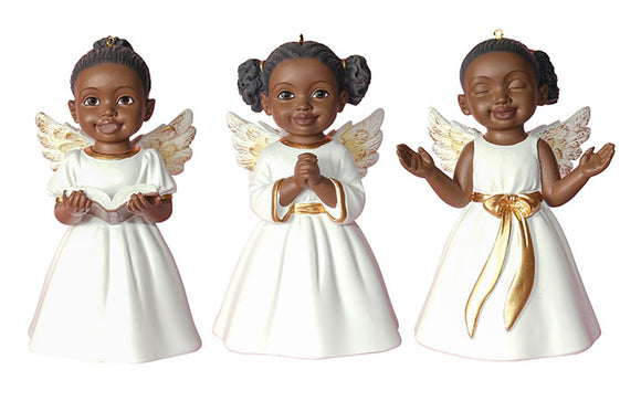 3 Cherub Ornaments