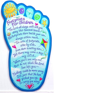"""Footprints For Children"" Wall Plaque"