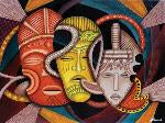 Society Masks Puzzle by Artist Marcella Muhammad