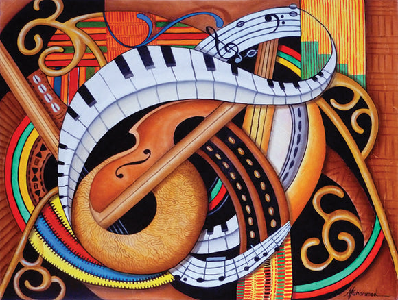 Sound of Soul Strings Puzzle by Artist Marcella Muhammad