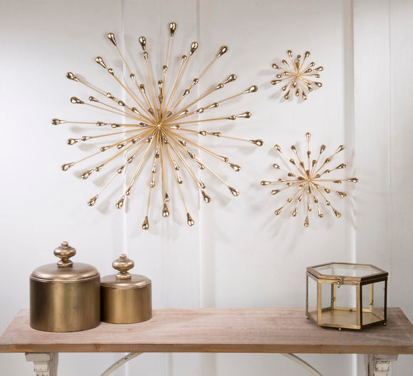 Starburst Wall Art - Gold