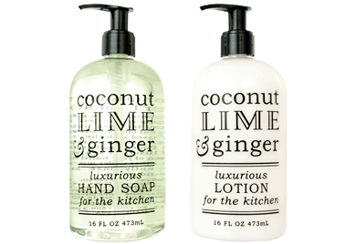 COCONUT, LIME & GINGER KITCHEN COLLECTION—Hand Soaps & Lotions