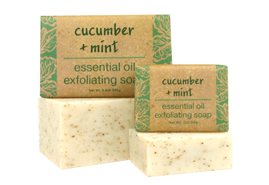Cucumber + Mint Essential Oil Soap