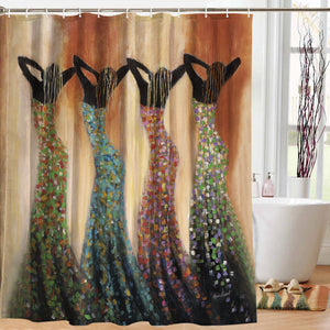 Dance of the Summer Shower Curtain