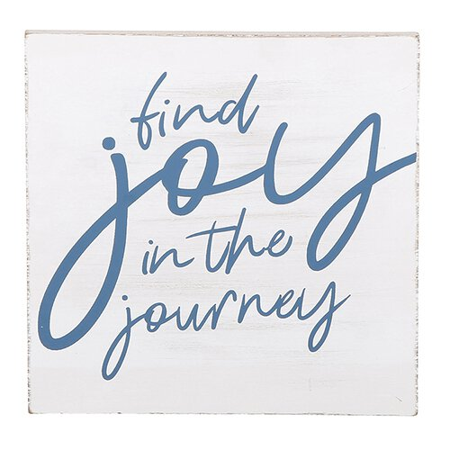 Find Joy in the Journey.... Wall Plaque