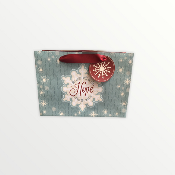 Christmas Blue/Maroon Gift Bag (Small)