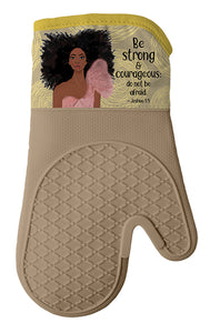 Be Strong and Courageous Oven Mitt/Pot Holder Set
