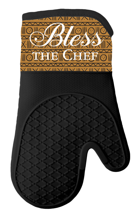 Bless the Chef Oven Mitt/Pot Holder Set