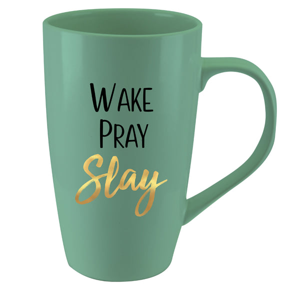 Wake, Pray Slay Latte Mug