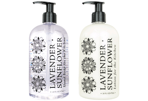 LAVENDER SUNFLOWER KITCHEN COLLECTION—Hand Soaps & Lotions