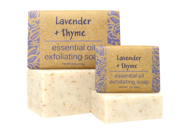 Lavender + thyme Essential Oil Soap