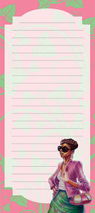 Pink and Green Magnetic Note Pad