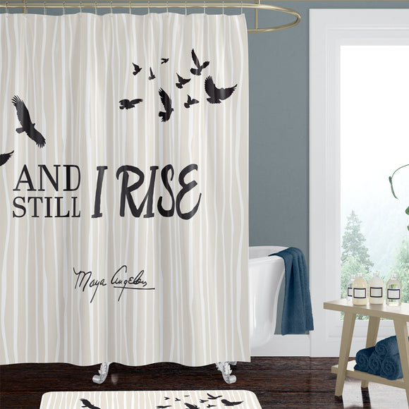And Still I Rise Shower Curtain