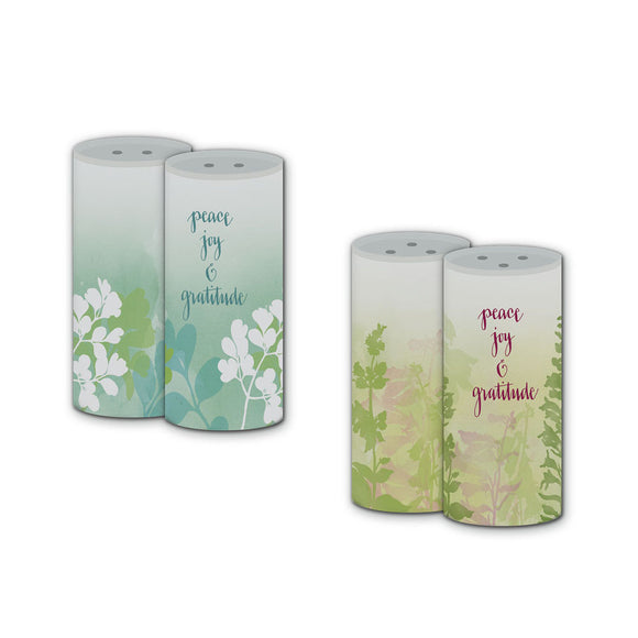 Peace, Joy & Gratitude Salt and Pepper Shaker