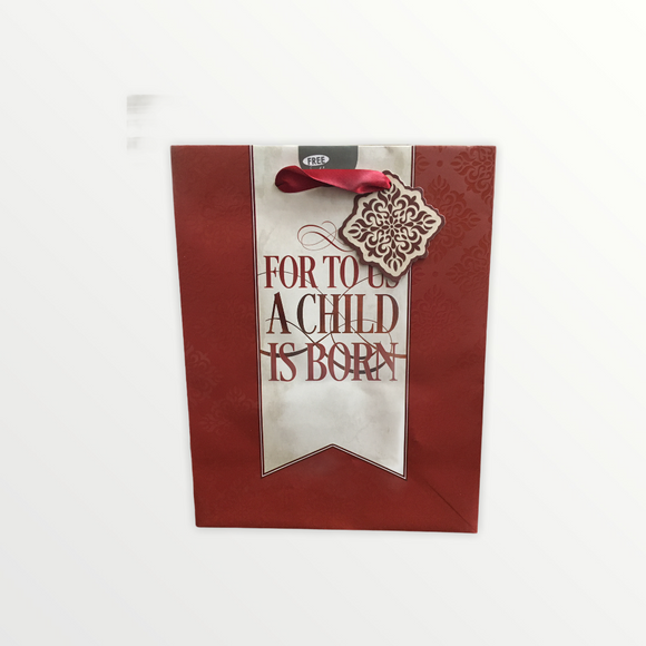 Christmas Maroon Gift Bag (Medium)