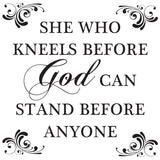 She Who Kneels Wall Decal
