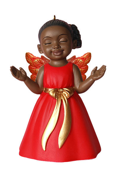 Angel Ornament in Red: Worship