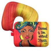 Blessed to Live Without Stress Inspired Neck/Lumbar Pillow